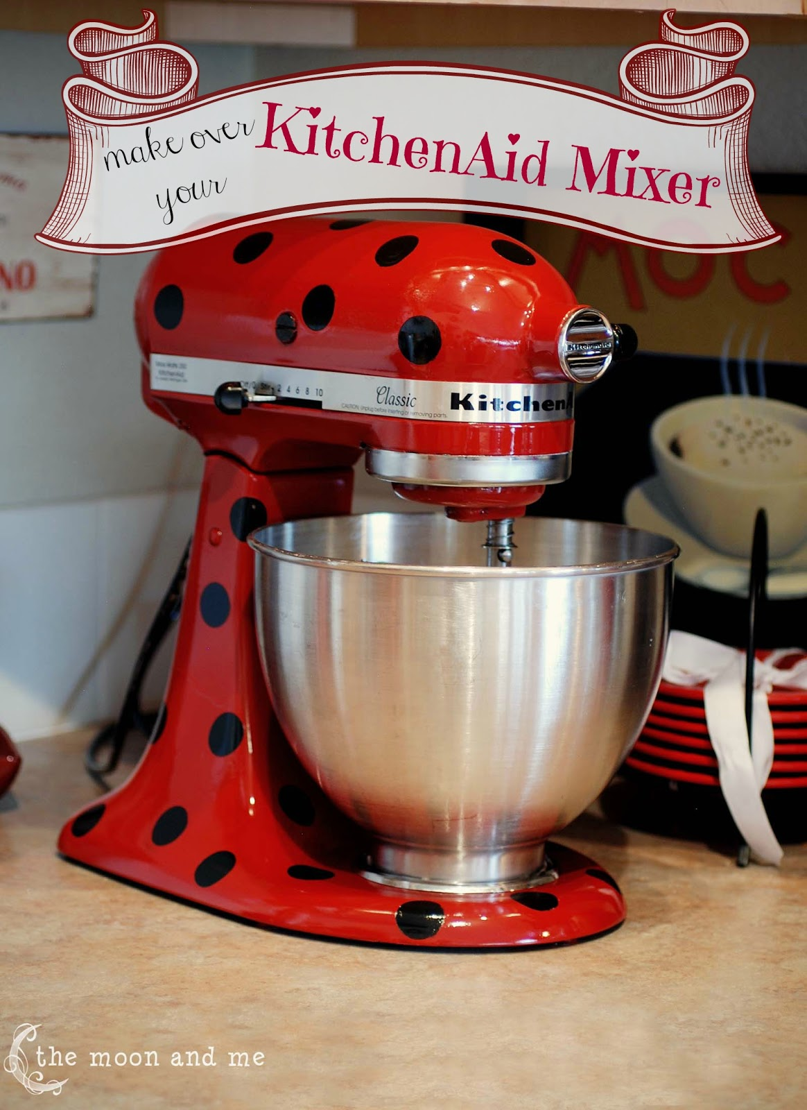 Red Kitchen Aid Mixer Corner Cabinet The Moon And Me A Beauty For Your Kitchenaid