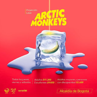 ARCTIC MONKEYS Nuevo Show Laser en el Planetario de Bogota