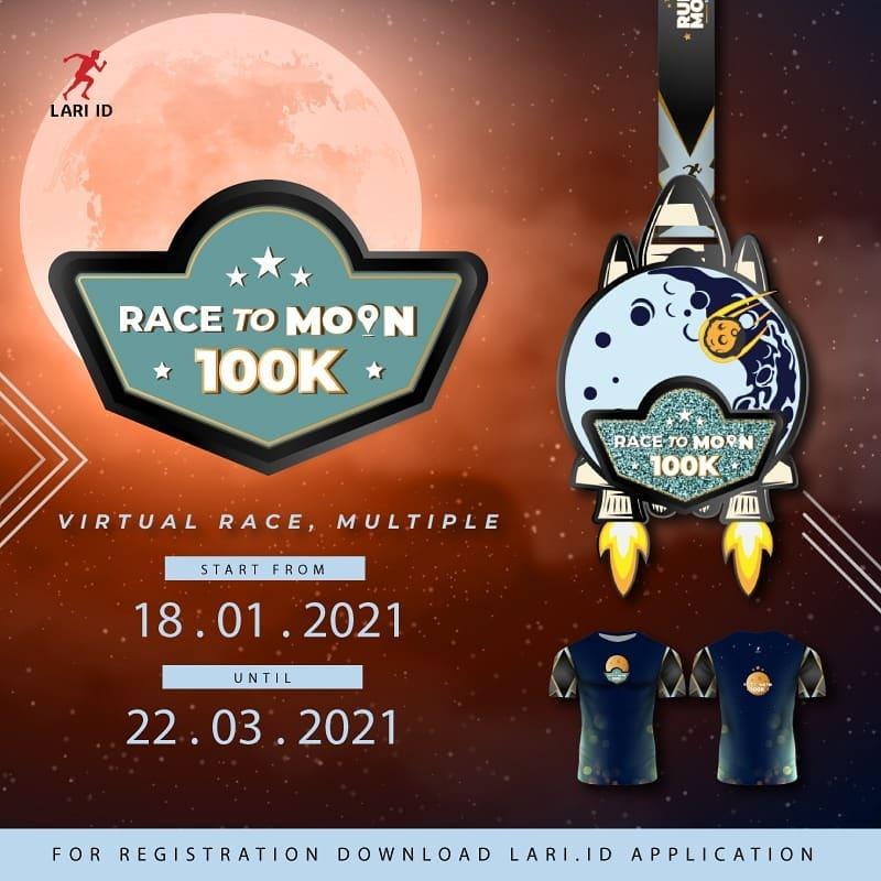 Race to Moon 100K - Charity Virtual Race • 2021