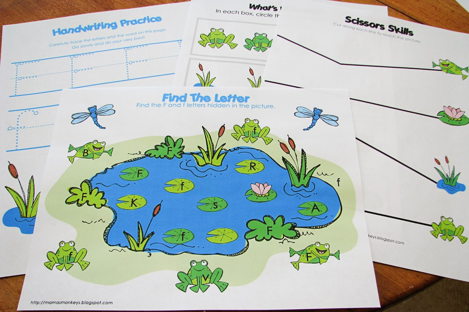 Mommy S Little Helper Letter F Frog Preschool Theme