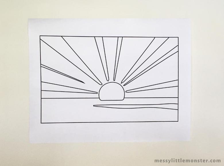 Roy Lichtenstein Sunrise Template