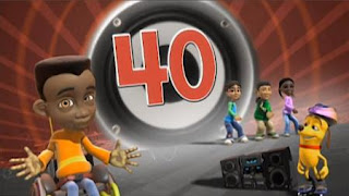 Traction Jackson counts to 40 in an animation. Sesame Street Preschool is Cool, Counting With Elmo