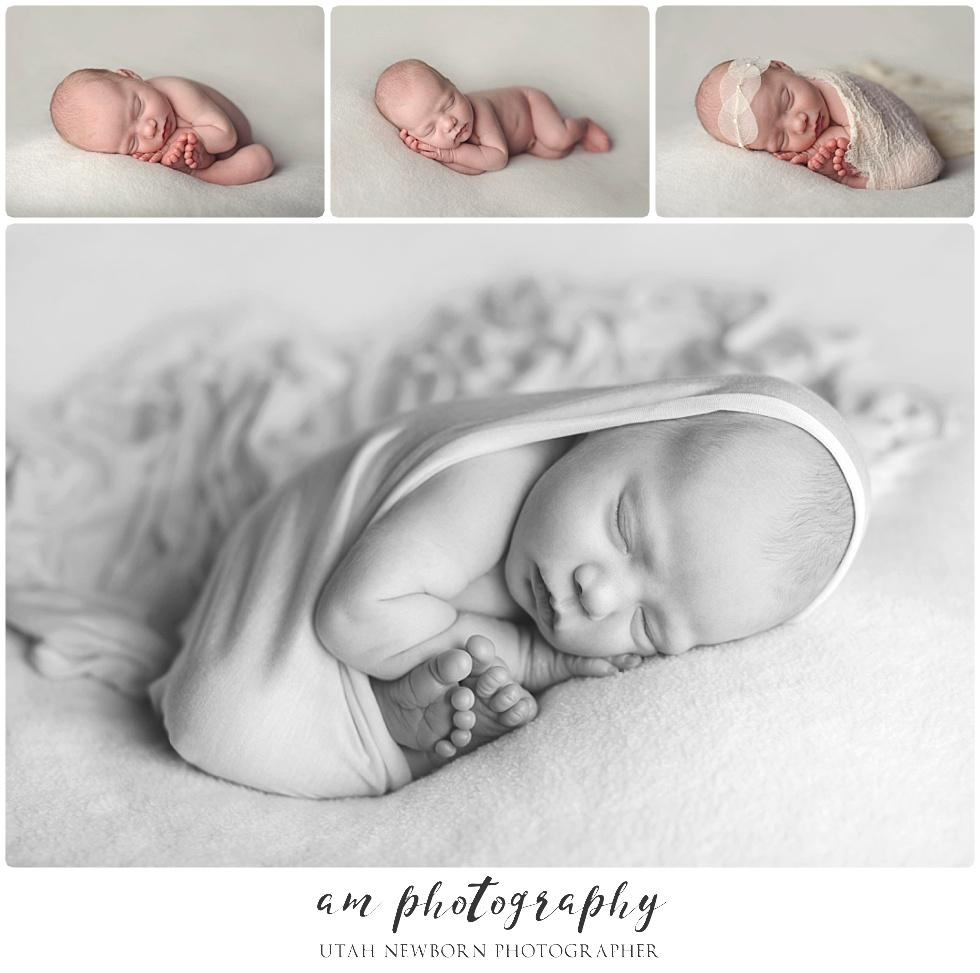 posed baby girl newborn portraits