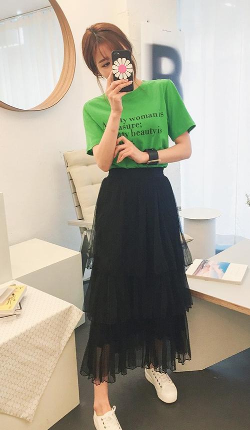 Tiered Midaxi Ruffle Skirt