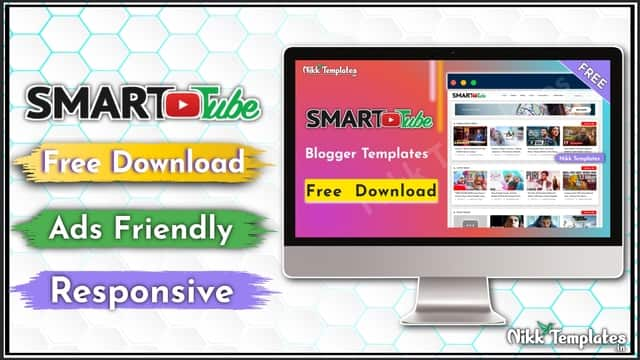 (Free) Smart Tube - Video Blogger Template Download - {Nikk Templates}