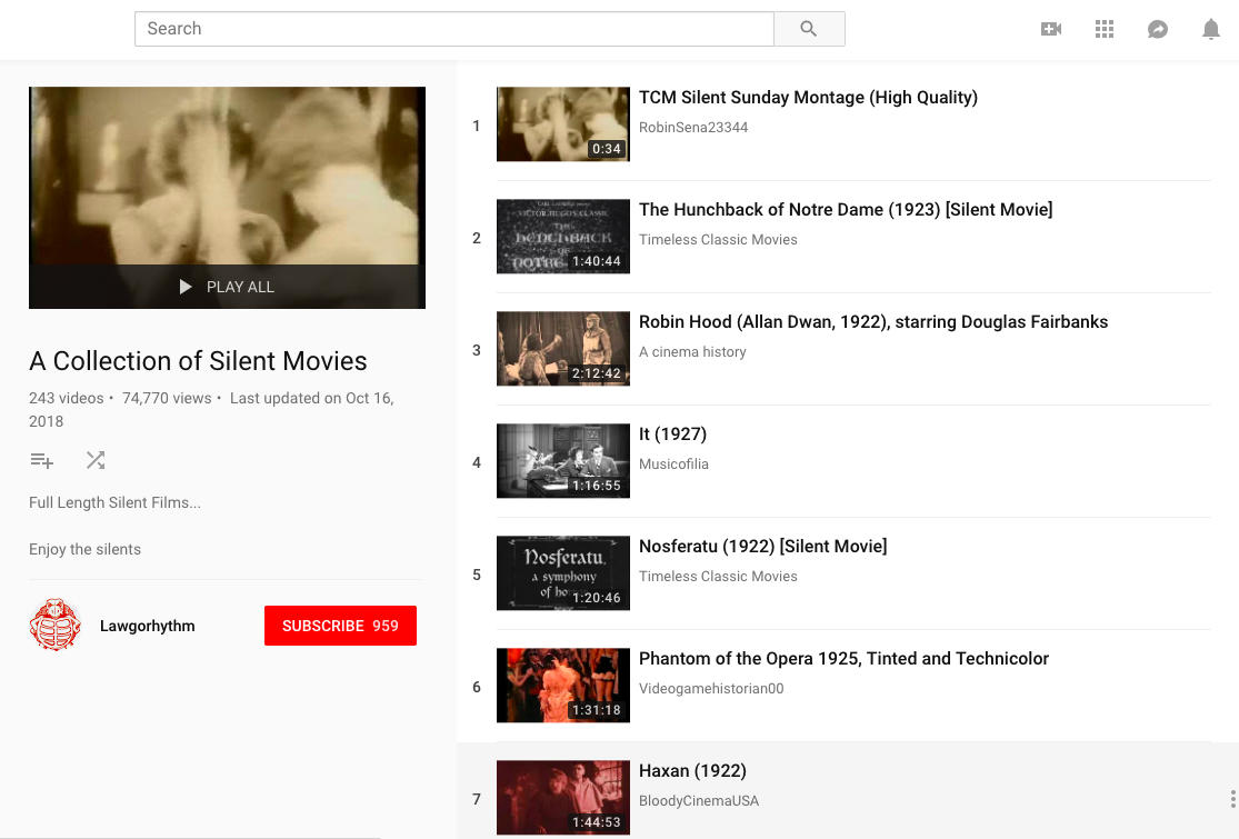 Where to Watch Silent Films Online For Free | www.rachelscarlet.com #SilentFilm #1920's #Antiques #History