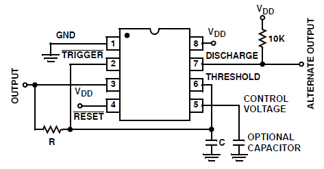 ICM7555 Astable Power Supply Consideration Circuit and Datasheet