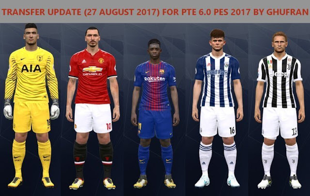 Option File PES 2017 untuk PTE 6.0 update 27/8/2017