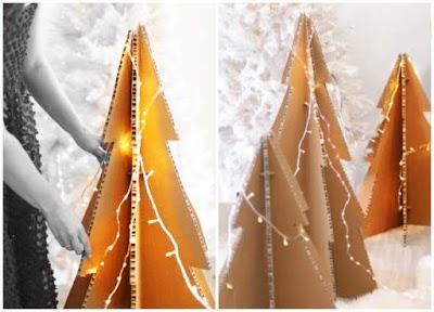 Árboles de Navidad de cartón gigantes