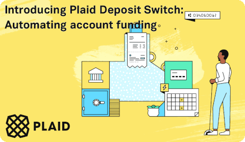 Plaid Deposit Switch