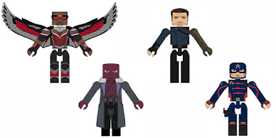 Walgreens Exclusive The Falcon and the Winter Soldier Marvel Minimates Series by Diamond Select Toys
