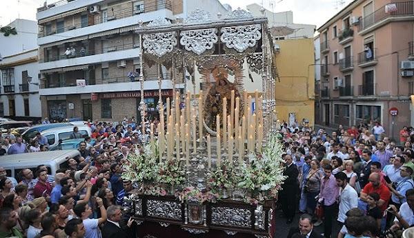 Horarios e Itinerarios de todas las Salidas Procesionales de la Virgen del Carmen hoy en Sevilla