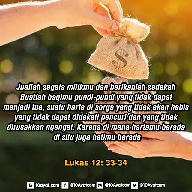 Lukas 12: 33-34