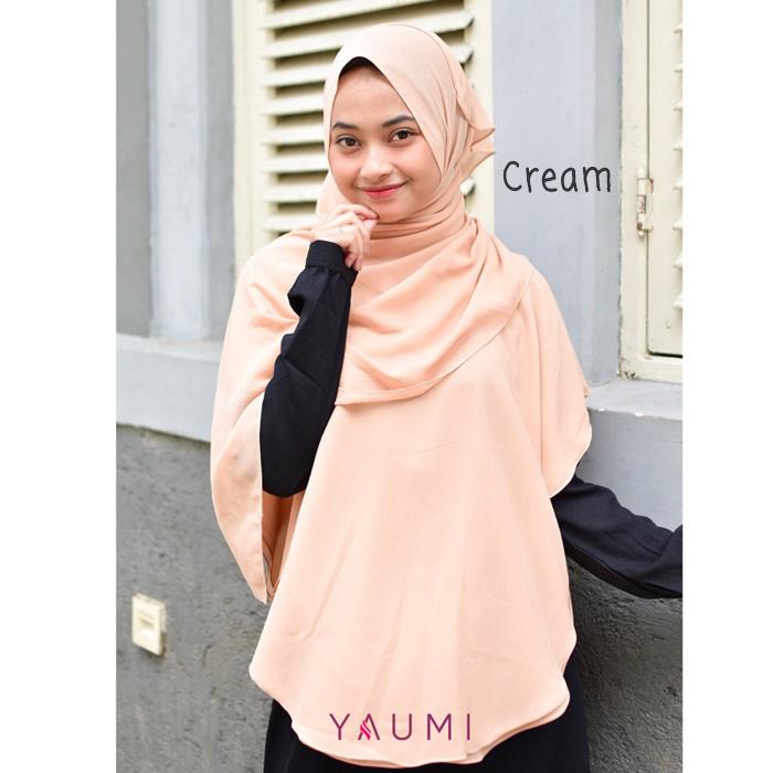Yaumi Hijab Khimar Salma Cream