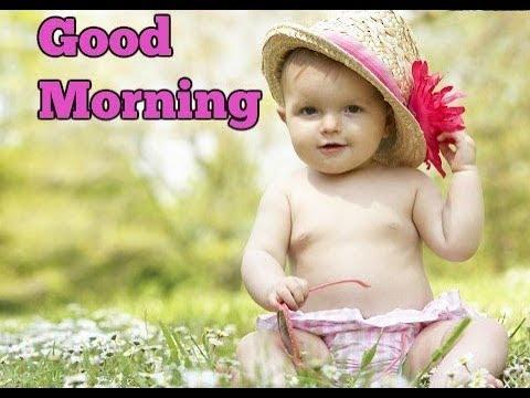 good morning funny baby