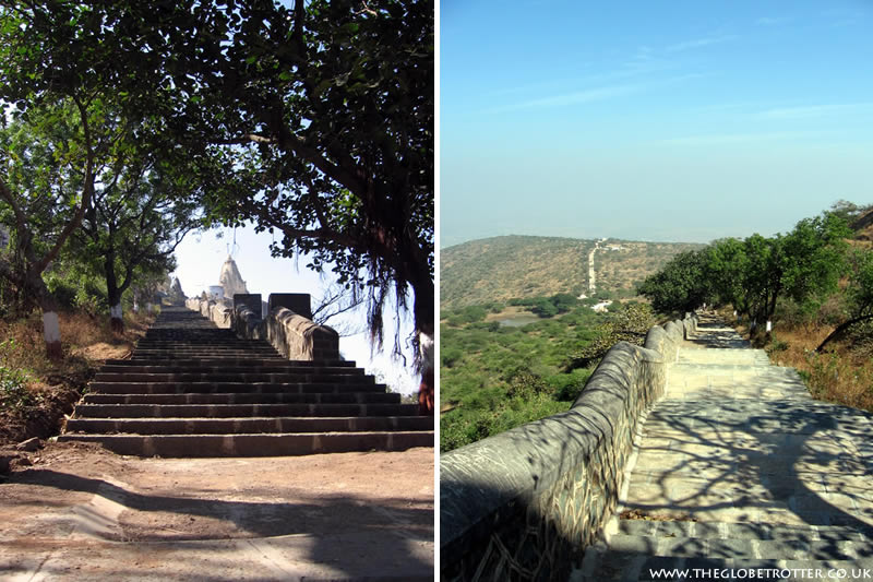 Climbing up the Shatrunjaya Hills in Palitana