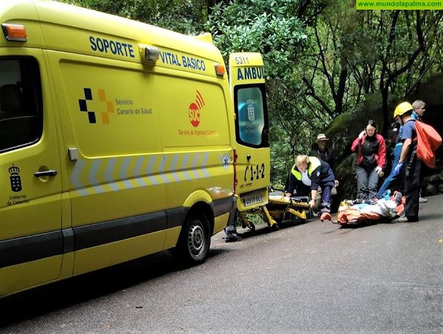 Senderista herida de carácter moderado tras caerse en Los Tilos