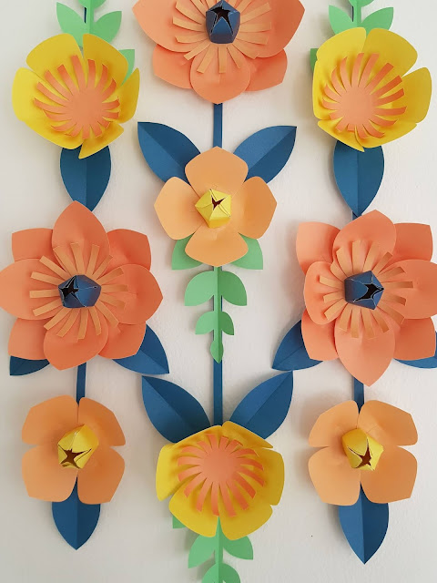 Stunning paper flower wall hanging