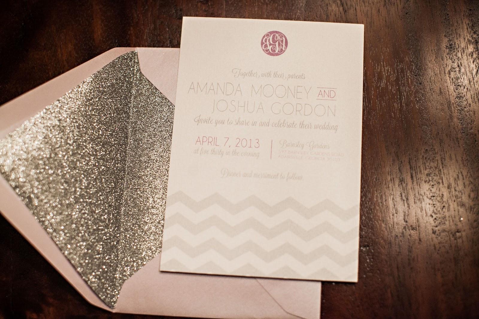 F Southern Glam Wedding Invitations Amanda U0026 Josh