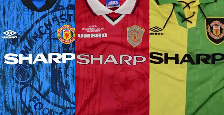 best website 94bc8 238c5 Here Are All Manchester United 1990s Kits - Footy Headlines