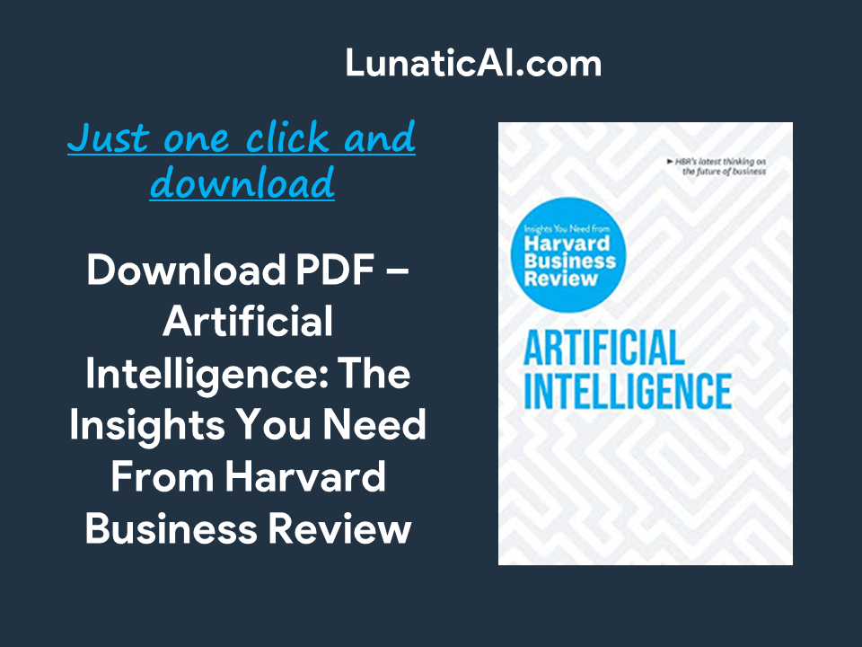 Artificial Intelligence Harvard Business Review PDF