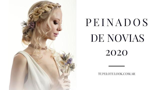peinado para novia 2020