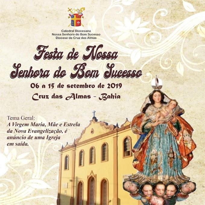 Cruz das Almas: Festa da Padroeira da cidade começa no dia 06 de setembro