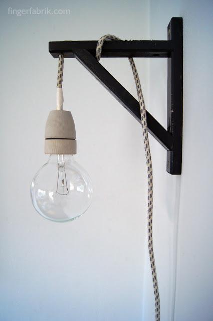 diy luminária parede