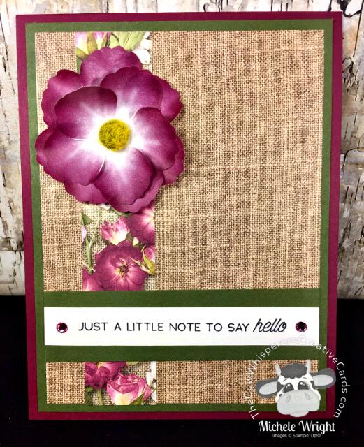 Card, Pressed Petal Washi Tape, Pressed Petals Designer Series Paper, A Little Lace