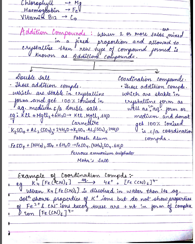 Chemistry Chapterwise Notes (Coordination Compounds) : For JEE and NEET Exam PDF Book