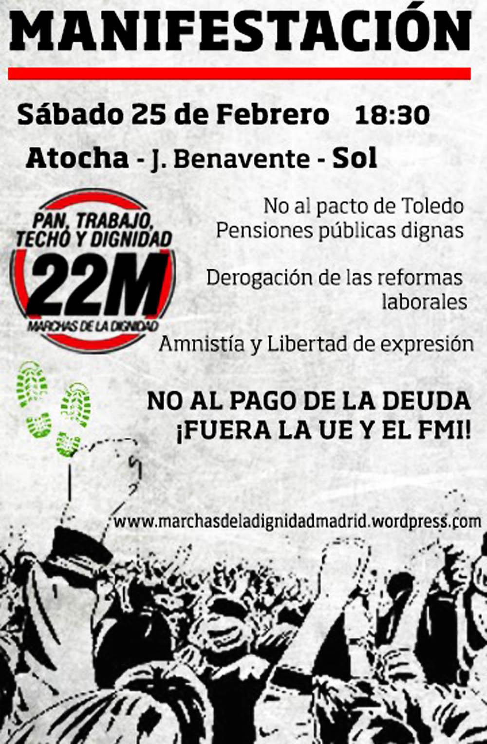 Saltimbanquiclicclic marchas de la dignidad for Oficina de empleo atocha
