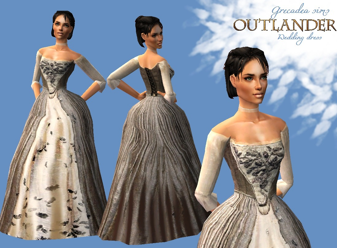 Wedding gown from Outlander tv-series - Grecadea sims