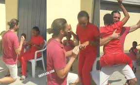 Video:Akuapem Poloo 'Tweks' For Her White Boyfriend After Marriage Proposal