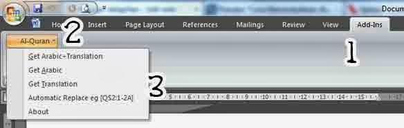 Cara Menambahkan Al-Qur'an pada Microsoft Word