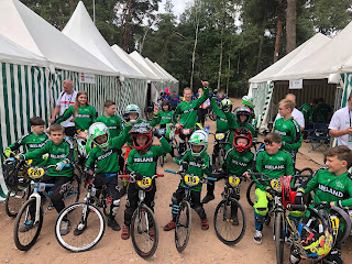 Belfast City bmx Club part of team Ireland at Zolder world bmx championships