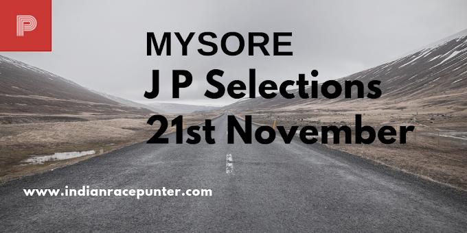 Mysore Jackpot Selections 21st November
