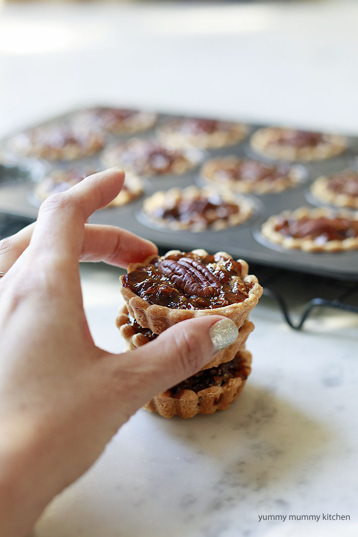 vegan mini pecan pie recipe