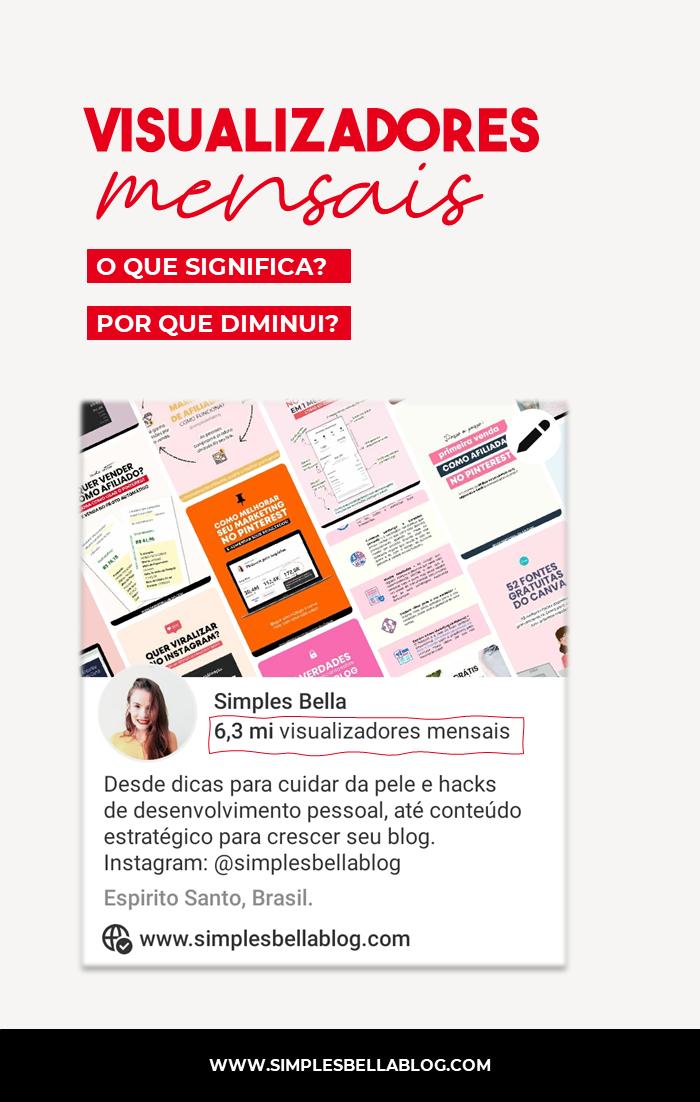 O que significa 'visualizadores mensais' no Pinterest?