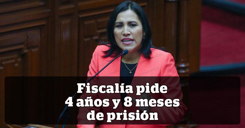 Fiscal pide 4 años y 8 meses de prisión para exministra de Educación, Flor Pablo Medina
