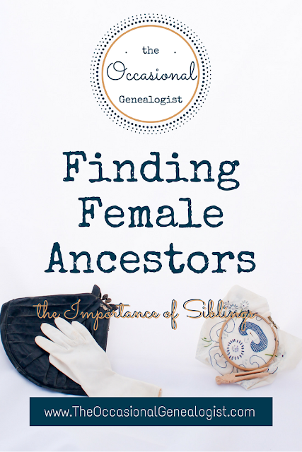 Finding Female Ancestors: Researching women is consistenly a challenge. If your mystery woman didn't create records, you may have to rely on alternative research avenues.