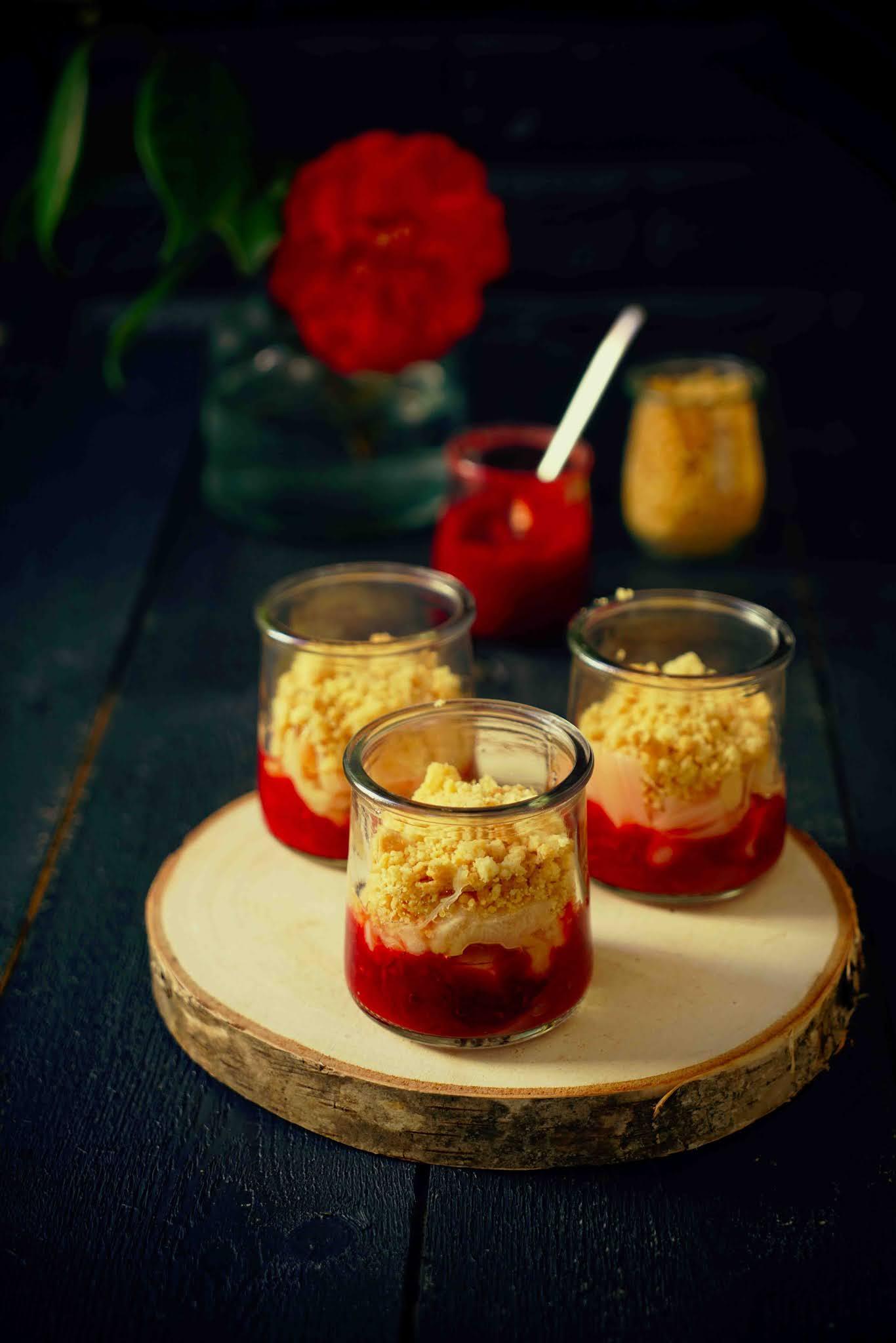 dessert facile , crumble croustillant