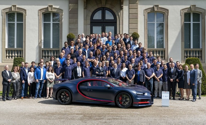 Bugatti makes the 100th Chiron