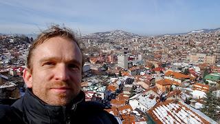 Sarajevo in the background
