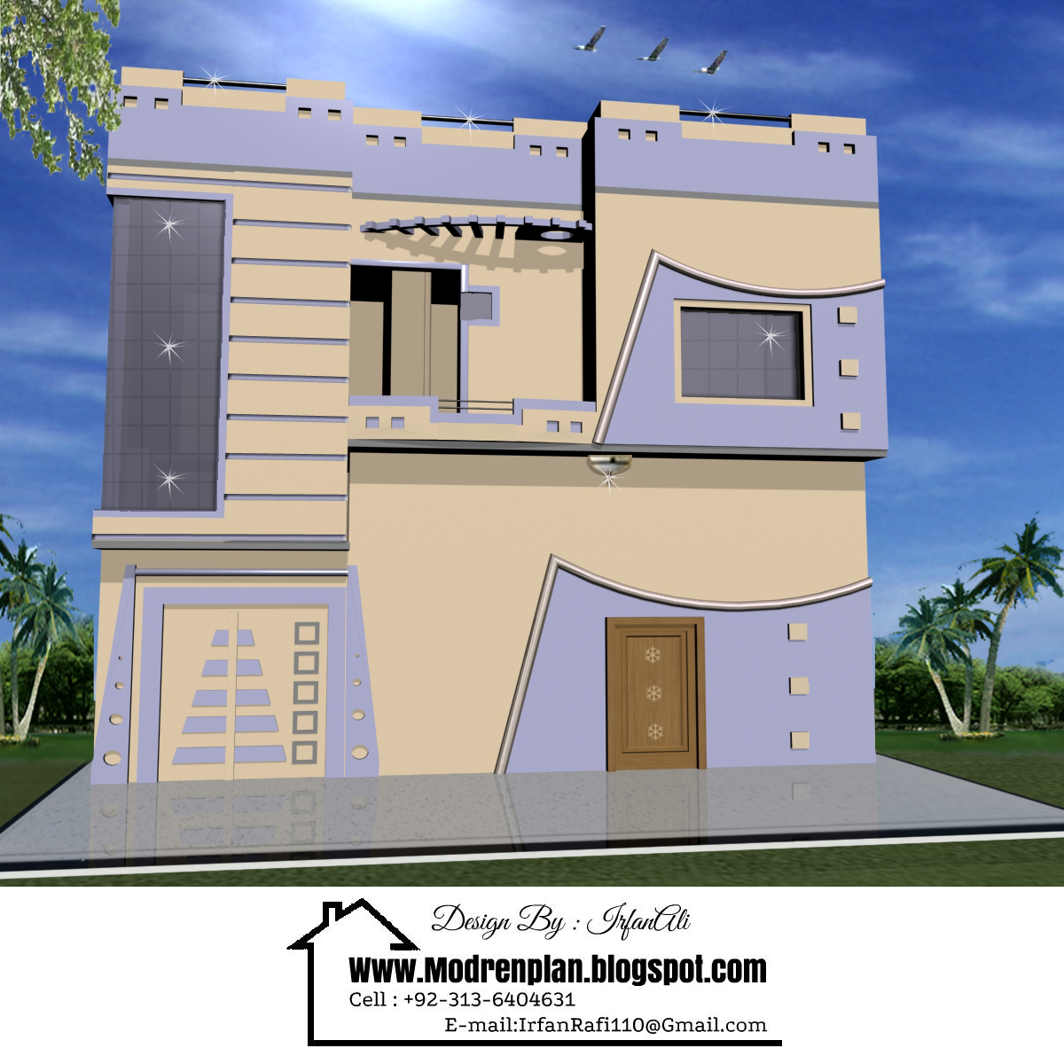 Front elevation in pakistan india for Small house elevation in india