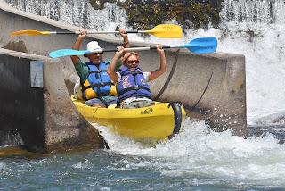 kayaking in the Ardeche