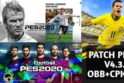 PATCH PES 2020 V4.3.1 THEME PES 18 (OBB+CPK) Of PES 2020 MOBILE By Stranger Shafiul