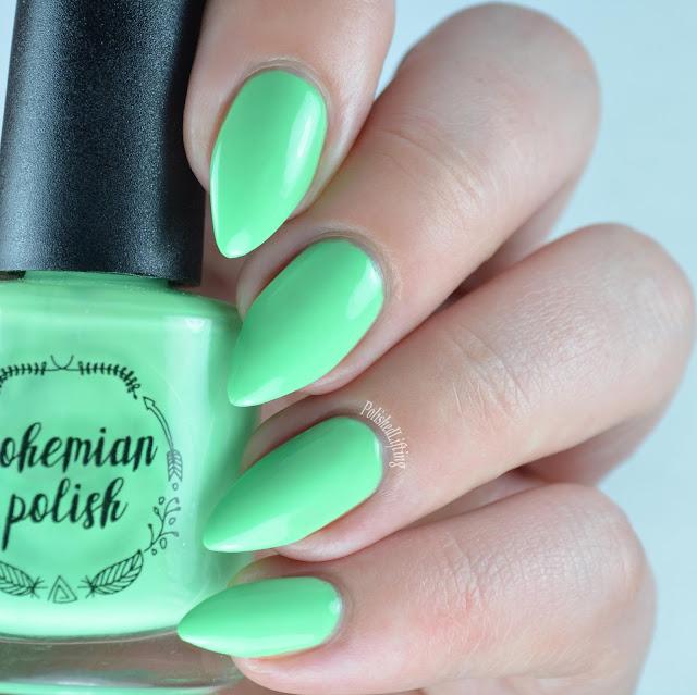 neon mint nail polish