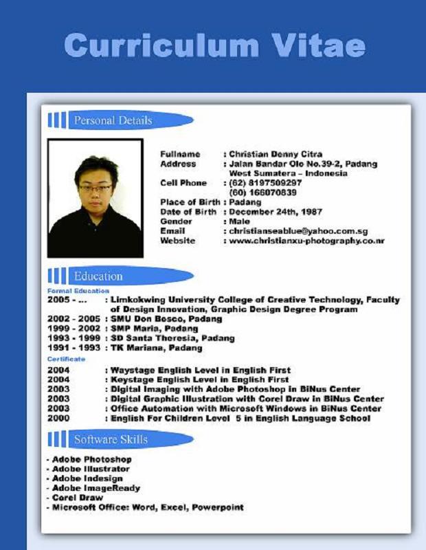 Cara Buat Cv Format Pdf Download Resume Yang Baik Contoh Membuat Cv Yang Baik Tipskarir Adsense Tuba Contoh Cv Curriculum Vitae