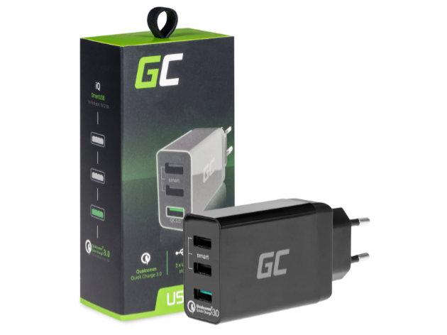 Trzyportowa ładowarka USB GreenCell (CHAR03)