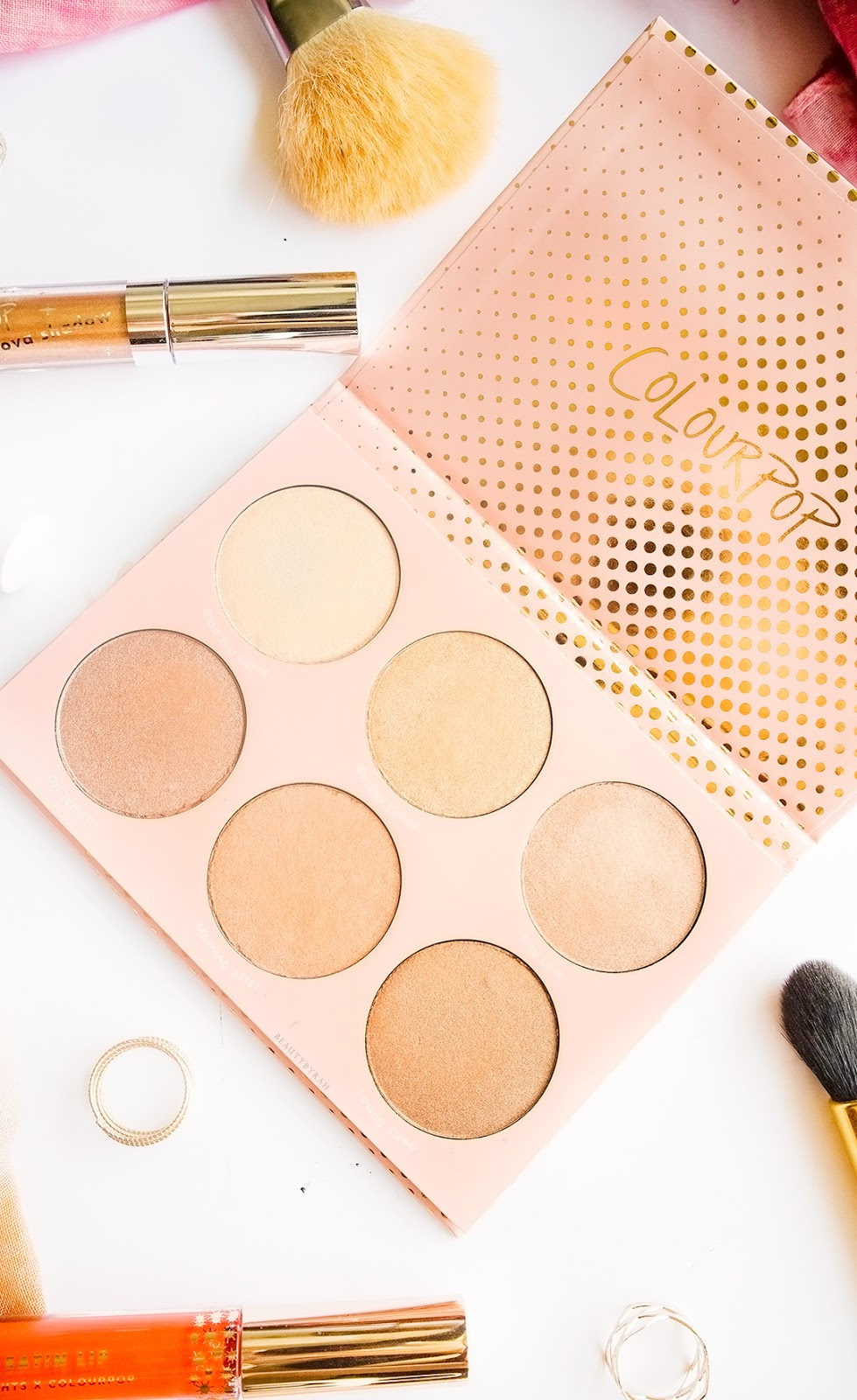Colourpop In-Nude-Endo Highlighter Palette review and swatches